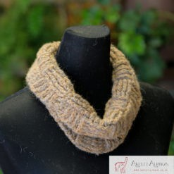 Alpaca Cowl Brown Grey