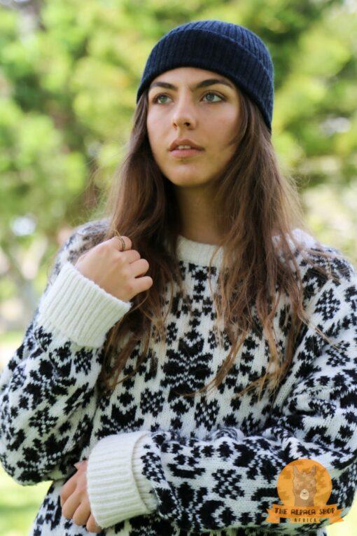 Alpaca Beanie Black