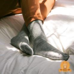 Alpaca Daily Socks Grey